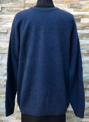 Mens Possum Crew Neck Jumper - Marine