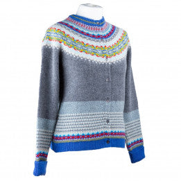 Scottish Wool Fairisle Yoke Cardigan - Solstice