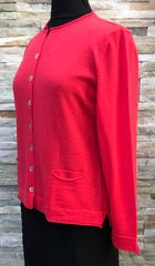 Open Neck Cardigan - Guava