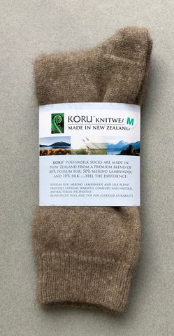 Possum Socks, Koru Dress  - Mocha