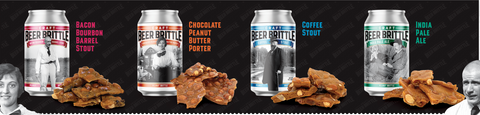 Holiday Four Craft Beer Peanut Brittle's