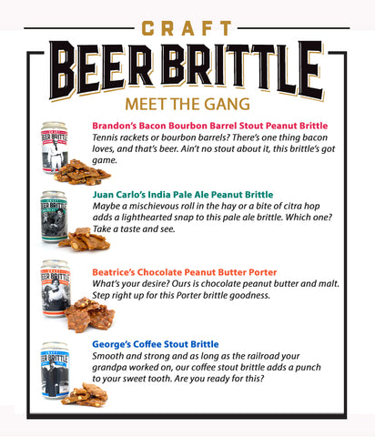 Craft Beer Peanut Brittle Variety 4-Pk