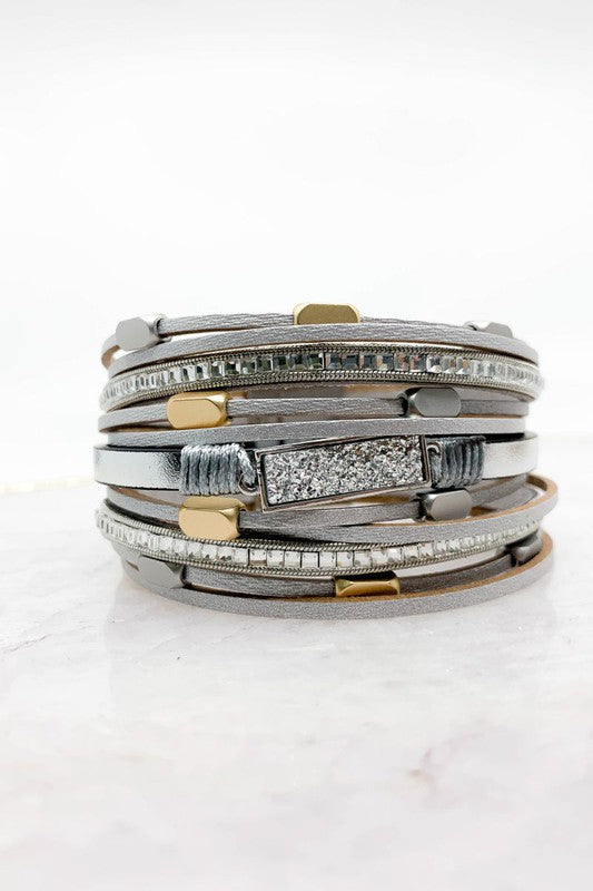 Gorgeous Layered Cuff Bracelet