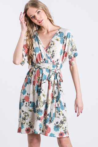 Garden Wrap Dress (SM-3X) - USA Made