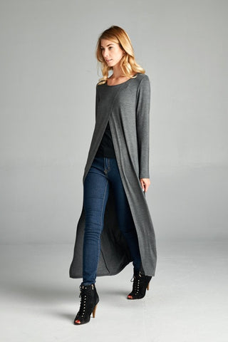 Soho Cross Cut Duster Cardigan  - USA Made