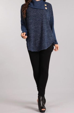 Super Soft Cowl Neck Lightweight Sweater
