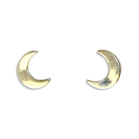 Mini Moon Stud Earrings