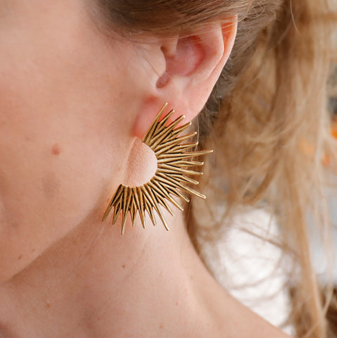 Golden Starburst Earrings