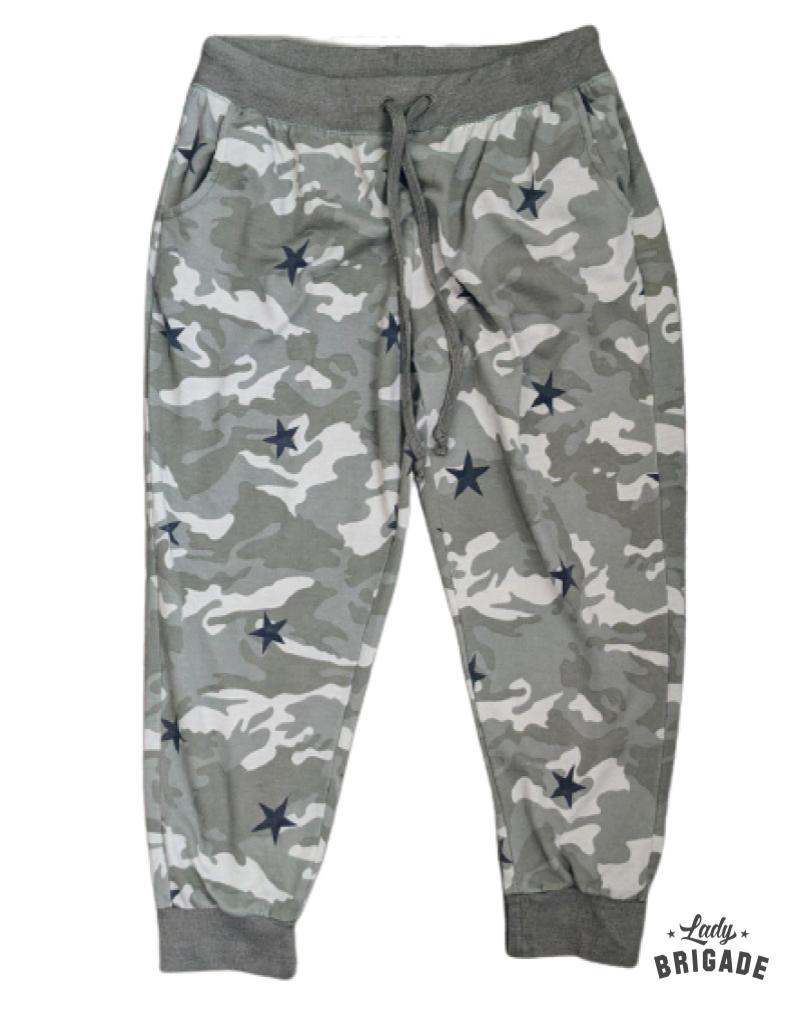 Camo Print Joggers with Pockets XL-2X