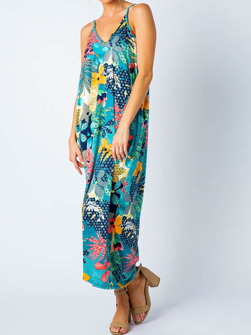 Garden Graphic Maxi Dress - USA Made