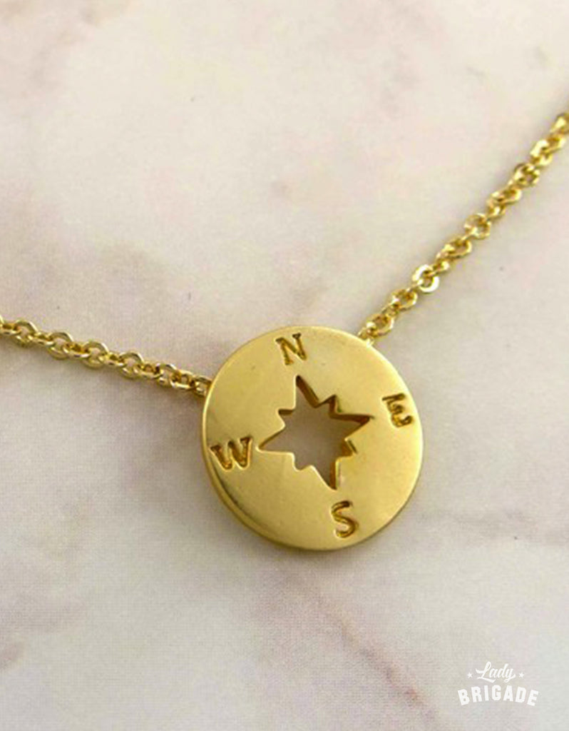 Enjoy The Journey - Compass Charm Necklace