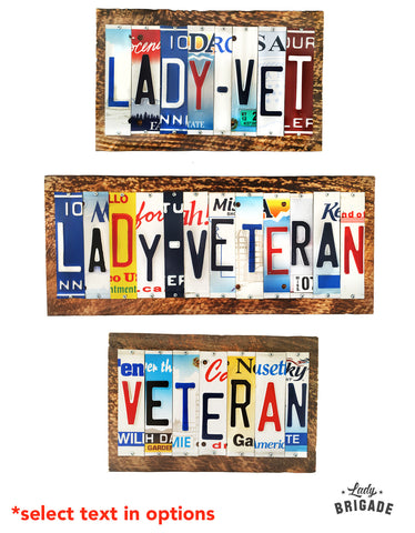Veteran Upcycled Handmade Plaques