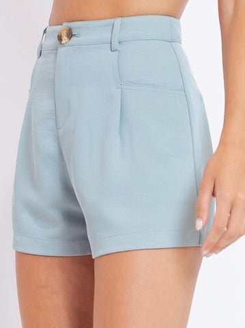 Pleated Spring Shorts