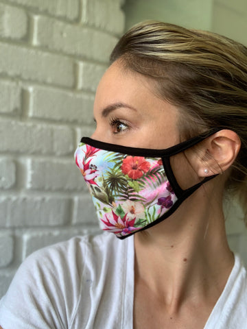 Tropical Print & Other Printed Face Masks - USA MADE!