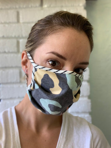 Animal Print Face Mask-Multilayered-USA Made