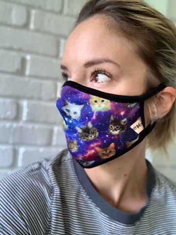 Space Kitty & Other Printed Face Masks - USA MADE!