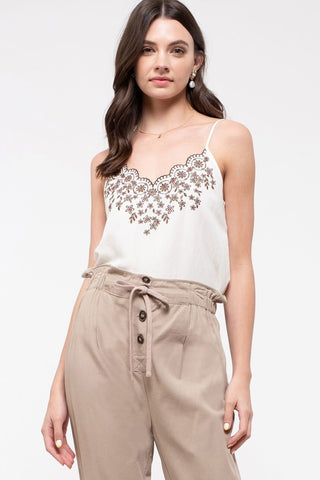 Floral Embroidered Camisole