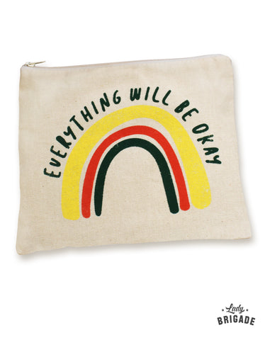 """Everything Will Be Okay"" Makeup Bag"
