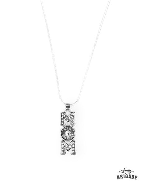 "9mm Silver Plated ""Mom"" Necklace"