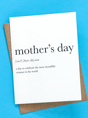 Mother's Day Definition Greeting Card