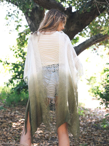 """On the Fringe"" Ruana Wrap"
