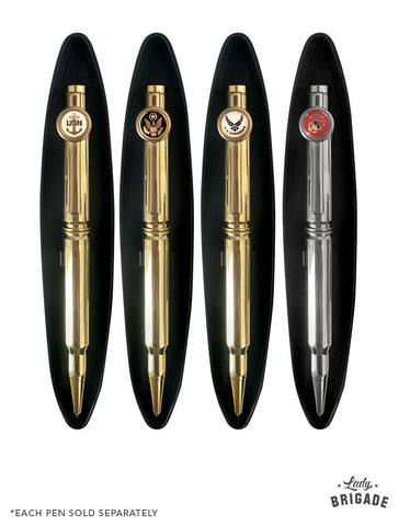 Handmade Bullet Pens - For Army, Navy, Air Force, and Marines