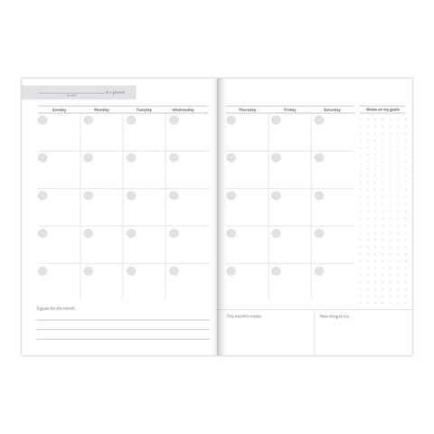 productivity journal calendar