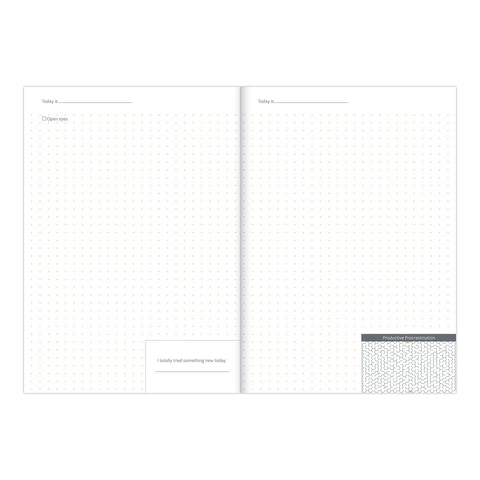 productivity journal sample pages