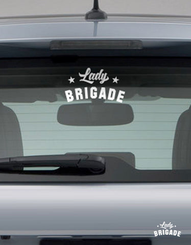 Lady Brigade Car Transfer Decal (Set of 2)