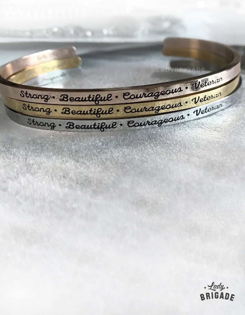 Strong Beautiful Courageous Veteran Bracelet