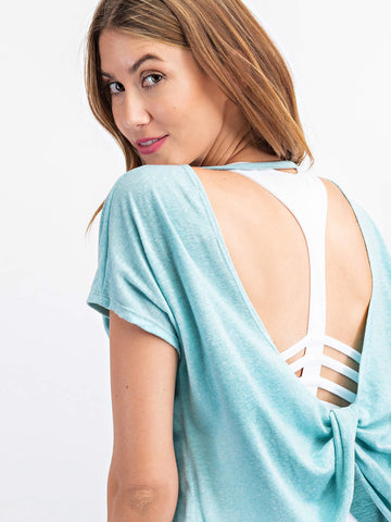 Open Back Yoga Top - USA Made