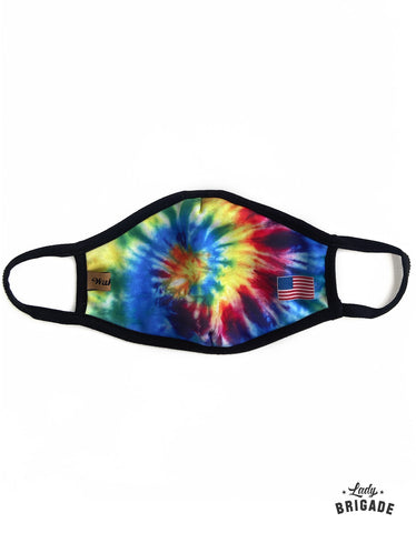 Tie-Dye Print Face Mask-Multilayered-USA Made