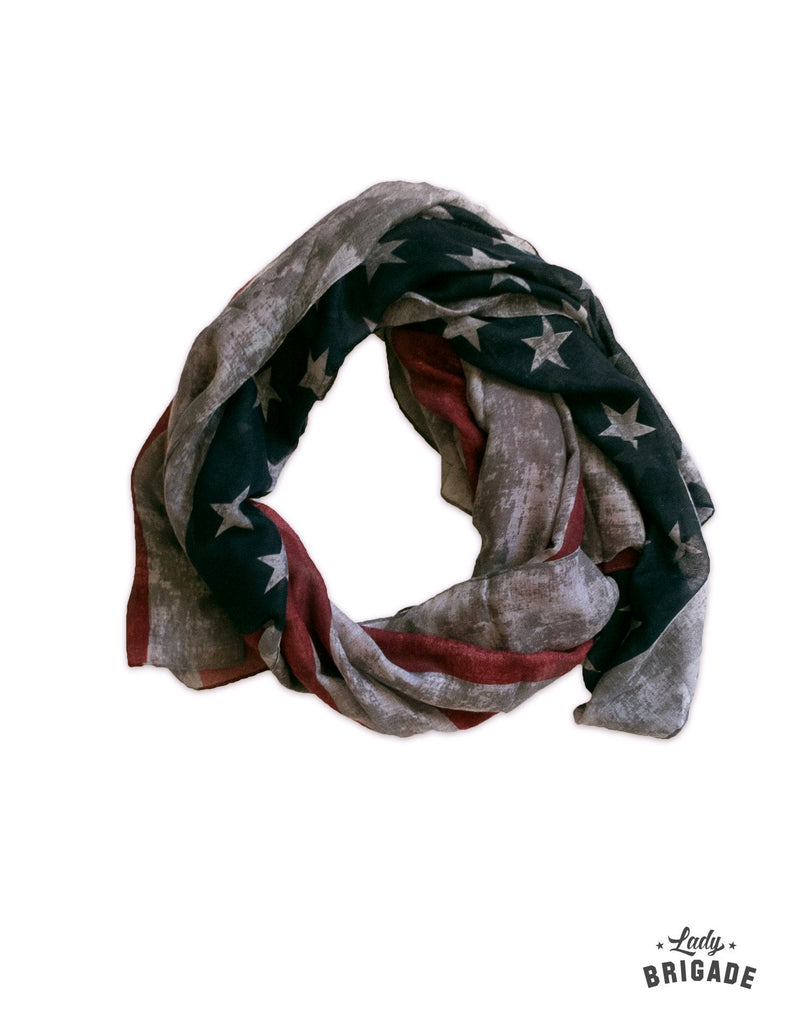 Vintage-Inspired USA Scarf