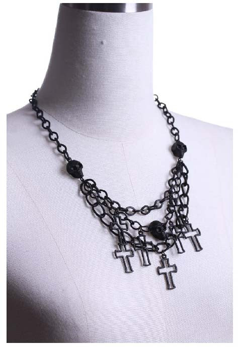1003 Skull Cross Necklace