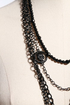 1020 Cross Skull Necklace