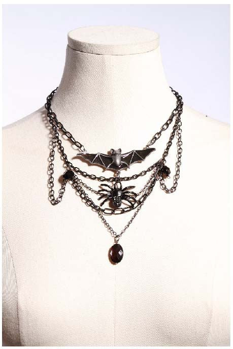 1024 Bat Spider Necklace