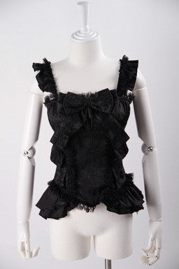 21003 Gothic Doll Ruffle Strap Cami Top
