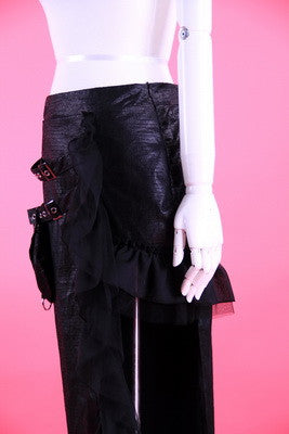 21028 Long Punk Reptile Pouch Skirt