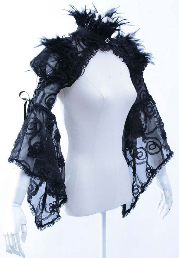 21080 Feather Lace Shrug
