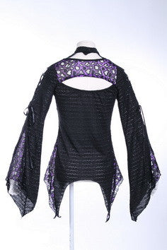 21103 Distressed Punk Sweater with Bell Sleeves