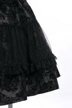 21113 High Waisted Lolita Skirt with Headband