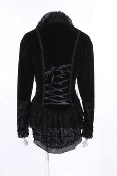 21120 Double Breasted Velvet Victorian Jacket
