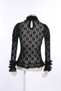 21124 Gothic Lace Sheer Shirt