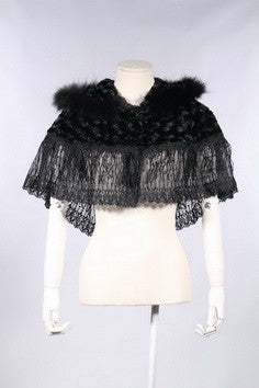 21125 Lolita Lace and Fur Capelet