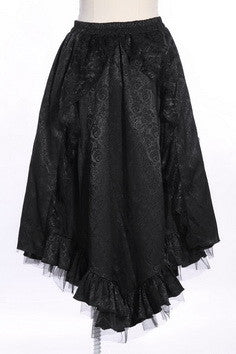 21133 Brocade Pattern Classic Gothic Long Skirt