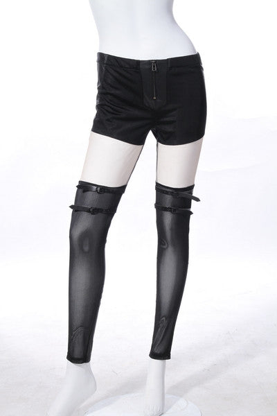 21181 Strapped Punk Leggings