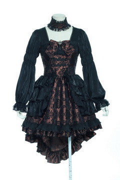 21218 Brocade Lolita Dress with Choker