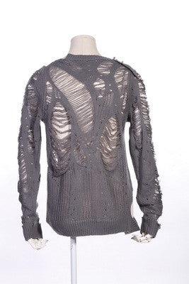 51023 Total Punk Spiked and Shredded Sweater