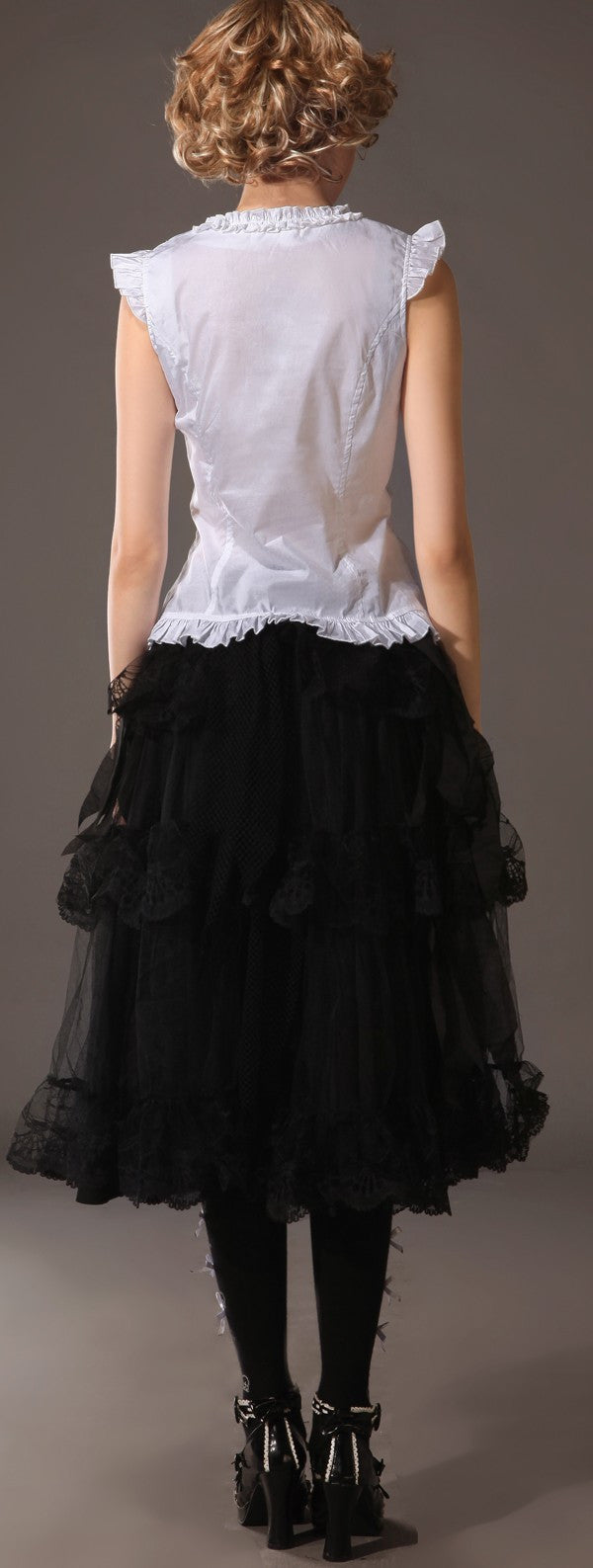 61270 Gothic Long Lace Skirt