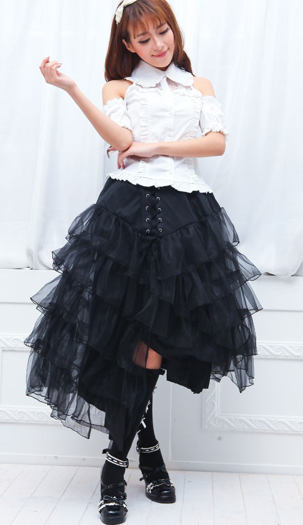 61272 Layered Lace Skirt
